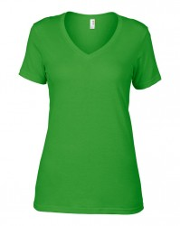 Image 1 of Anvil Ladies Featherweight V Neck T-Shirt
