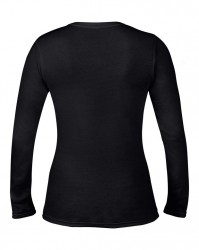 Image 2 of Anvil Ladies Fashion Basic Long Sleeve Fitted T-Shirt