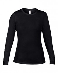 Image 1 of Anvil Ladies Fashion Basic Long Sleeve Fitted T-Shirt