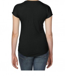 Image 1 of Anvil Ladies Tri-Blend V Neck T-Shirt