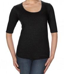 Image 2 of Anvil Ladies Tri-Blend 1/2 Sleeve T-Shirt