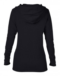 Image 2 of Anvil Ladies Crossneck Hooded Sweatshirt