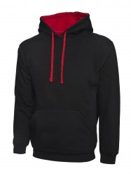Uneek UC507 Contrast Hooded Sweatshirt  image