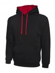 Uneek UC507 Contrast Hooded Sweatshirt  image