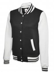 Uneek UC526 Ladies Varsity Jacket image