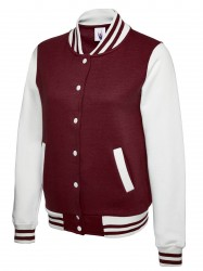 Image 3 of Uneek UC526 Ladies Varsity Jacket