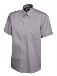Image 3 of Uneek UC702 Mens Pinpoint Oxford Half Sleeve Shirt