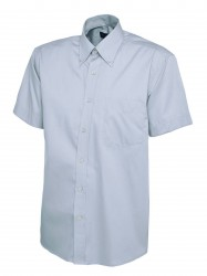Image 4 of Uneek UC702 Mens Pinpoint Oxford Half Sleeve Shirt