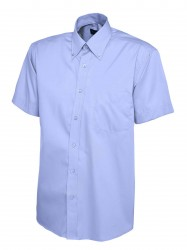 Image 5 of Uneek UC702 Mens Pinpoint Oxford Half Sleeve Shirt