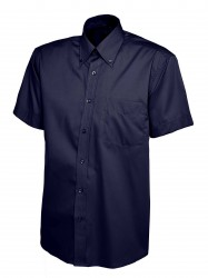 Image 6 of Uneek UC702 Mens Pinpoint Oxford Half Sleeve Shirt