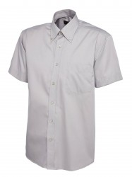 Image 7 of Uneek UC702 Mens Pinpoint Oxford Half Sleeve Shirt