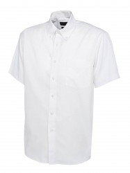 Image 8 of Uneek UC702 Mens Pinpoint Oxford Half Sleeve Shirt