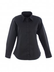 Uneek UC703 Ladies Pinpoint Oxford Full Sleeve Shirt image