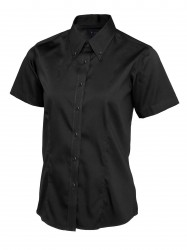 Uneek UC704 Ladies Pinpoint Oxford Half Sleeve Shirt image