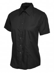 Uneek UC712 Ladies Poplin Half Sleeve Shirt image