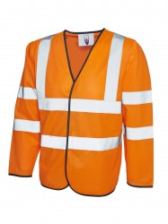 Uneek UC802 Long Sleeve Safety Waist Coat image