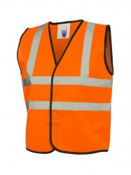 Uneek UC806 Childrens Hi-Viz Waist Coat  image