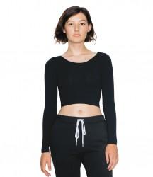 American Apparel Ladies Jersey Long Sleeve Crop Top image