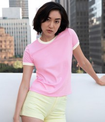American Apparel Ladies Poly/Cotton Ringer T-Shirt image