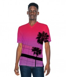 American Apparel Unisex Sublimation V Neck T-Shirt image