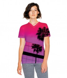 American Apparel Ladies Sublimation V Neck T-Shirt image