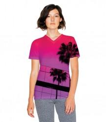 American Apparel Ladies Sublimation V Neck T-Shirt image