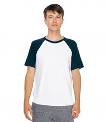 American Apparel Unisex Contrast Poly/Cotton Raglan T-Shirt image