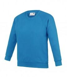 Image 3 of AWDis Academy Kids Raglan Sweatshirt