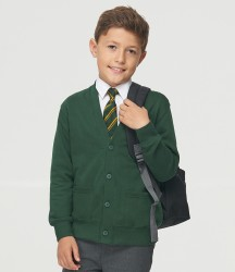 AWDis Academy Kids Sweat Cardigan image