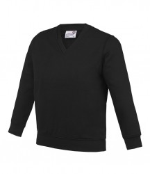 Image 2 of AWDis Academy Kids V Neck Sweatshirt
