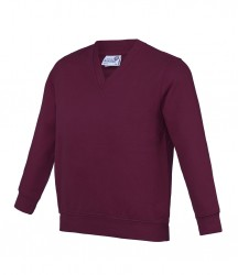 Image 3 of AWDis Academy Kids V Neck Sweatshirt