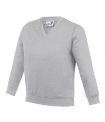 Image 4 of AWDis Academy Kids V Neck Sweatshirt