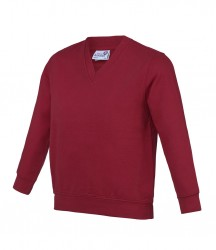 Image 11 of AWDis Academy Kids V Neck Sweatshirt