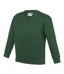 Image 9 of AWDis Academy Kids V Neck Sweatshirt