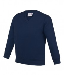 Image 8 of AWDis Academy Kids V Neck Sweatshirt
