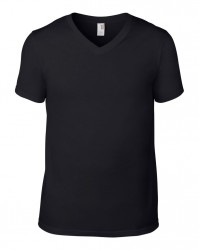 Image 2 of Anvil Lightweight V Neck T-Shirt