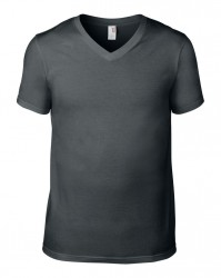 Image 3 of Anvil Lightweight V Neck T-Shirt