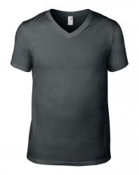 Image 8 of Anvil Lightweight V Neck T-Shirt
