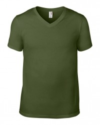 Image 5 of Anvil Lightweight V Neck T-Shirt
