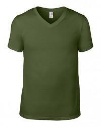 Image 9 of Anvil Lightweight V Neck T-Shirt
