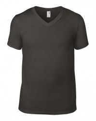 Image 4 of Anvil Lightweight V Neck T-Shirt