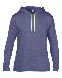 Image 6 of Anvil Lightweight Long Sleeve Hooded T-Shirt