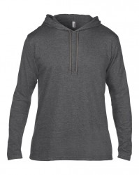 Image 5 of Anvil Lightweight Long Sleeve Hooded T-Shirt