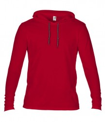 Image 10 of Anvil Lightweight Long Sleeve Hooded T-Shirt