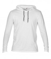 Image 9 of Anvil Lightweight Long Sleeve Hooded T-Shirt