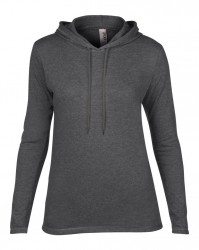Image 10 of Anvil Ladies Lightweight Long Sleeve Hooded T-Shirt