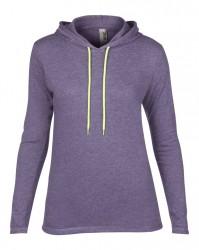 Image 13 of Anvil Ladies Lightweight Long Sleeve Hooded T-Shirt