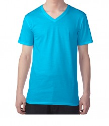 Image 7 of Anvil Featherweight V Neck T-Shirt