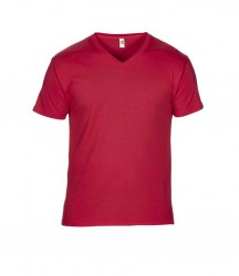 Image 4 of Anvil Featherweight V Neck T-Shirt