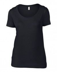 Image 4 of Anvil Ladies Featherweight Scoop Neck T-Shirt